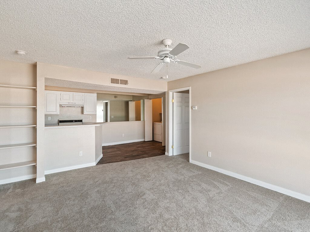 Classic apartment living room at Viridian Palms Apartments in Las Vegas