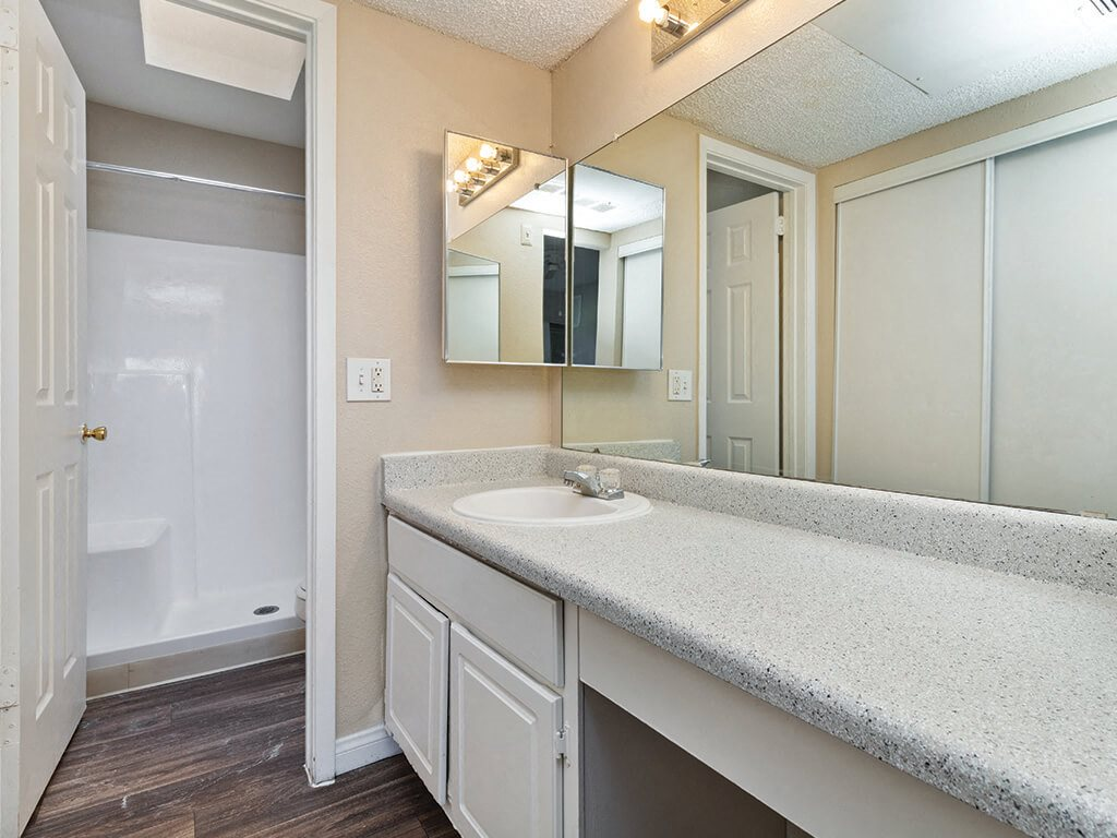 Master bathroom at Viridian Palms Apartments in Las Vegas