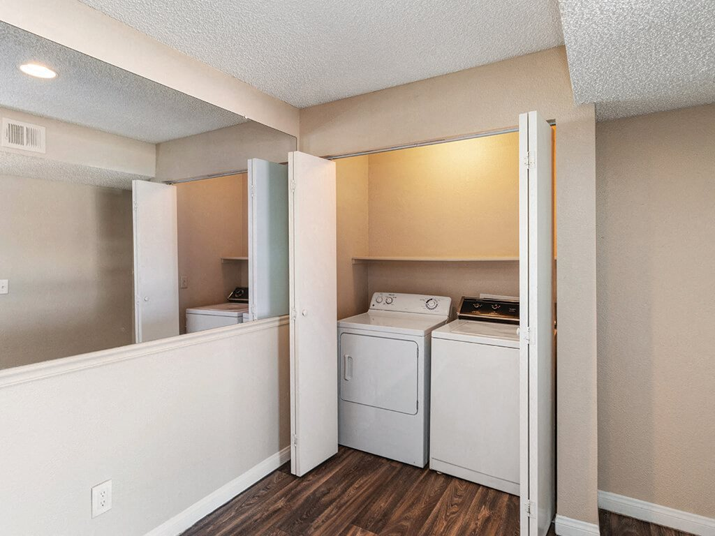 Washer and dryer at Viridian Palms Apartments in Las Vegas