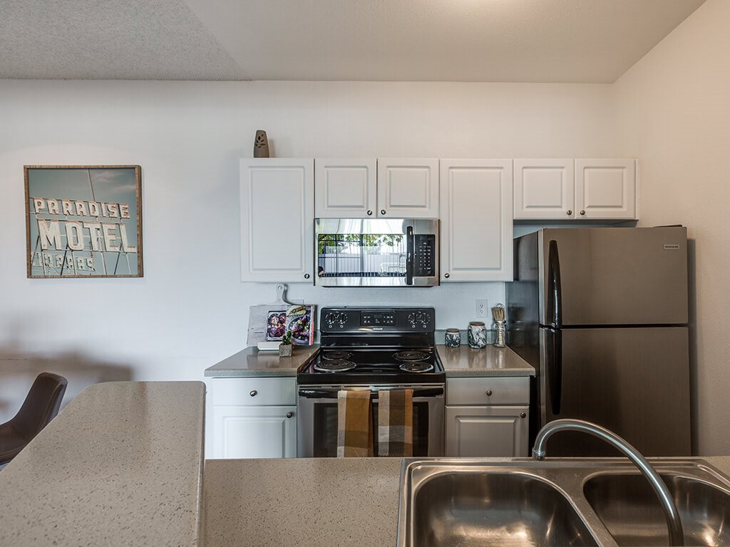 Kitchen at Viridian Palms apartments in Las Vegas NV