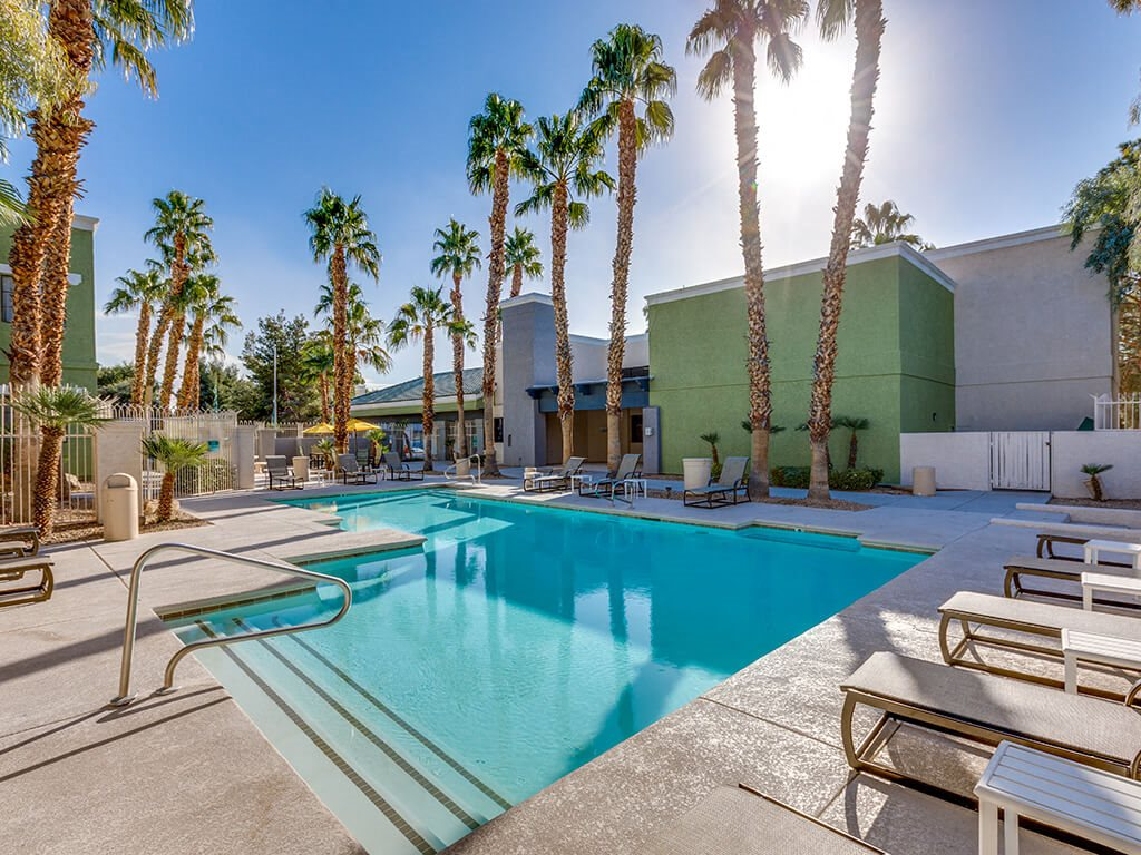 Pool at Viridian Palms apartments in Las Vegas NV