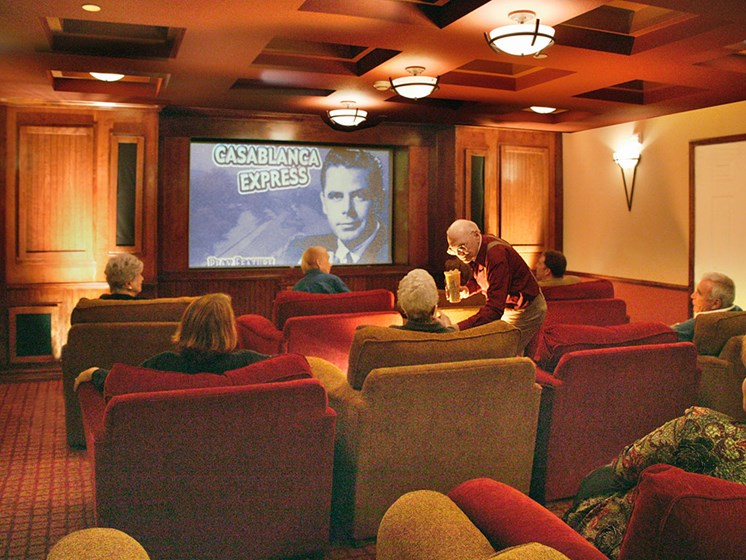 Private Movie Theater at Avila Senior Living at Downtown SLO, San Luis Obispo, CA, 93401