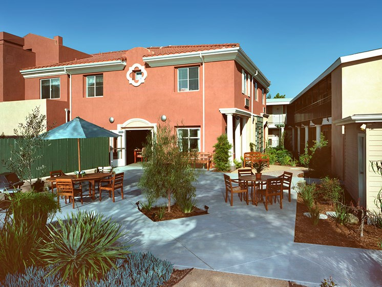 Large Outdoor Spaces at Avila Senior Living at Downtown SLO, San Luis Obispo, CA, 93401