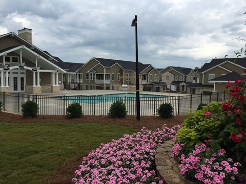 Lush Grounds and Resort Style Swimming Pool at Piedmont Place in Greensboro NC