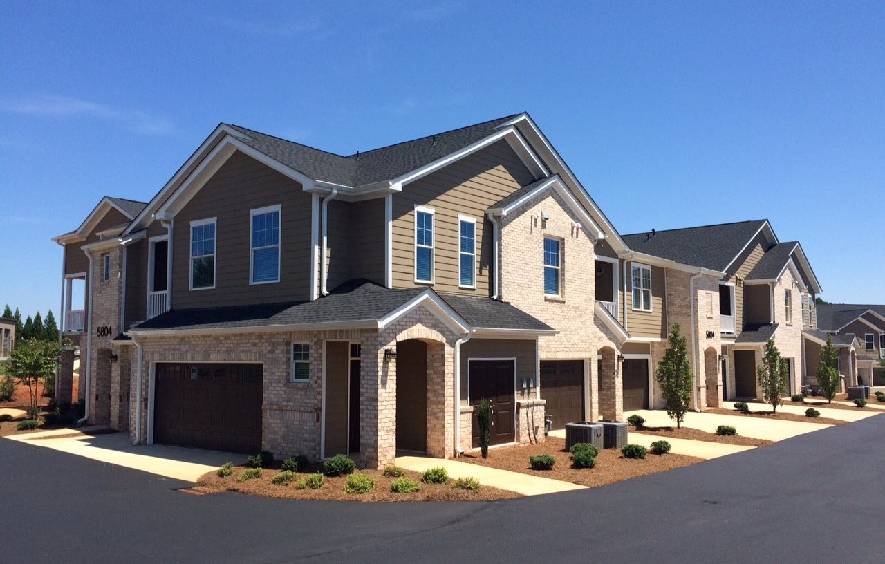 Residential Building Exterior at Piedmont Place Apartments in Greensboro NC