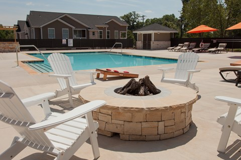 Relax by the Community Fire Pit at Piedmont Place Apartments in Greensboro NC