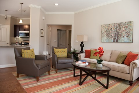 Model Living Room Floor Plan at Piedmont Place in Greensboro NC