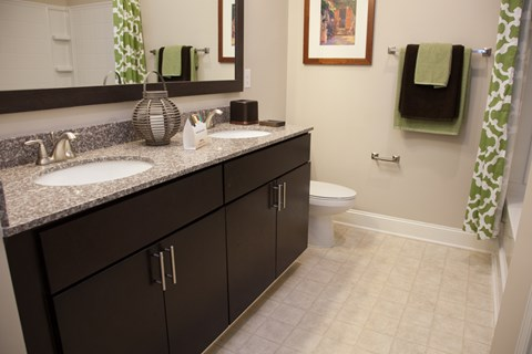 Model Bathroom Floor Plan at Piedmont Place in Greensboro NC
