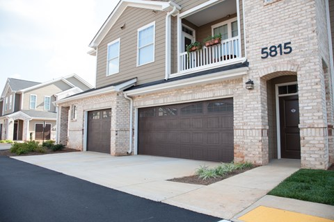 Resident Building/Garage Exterior at Piedmont Place in Greensboro NC