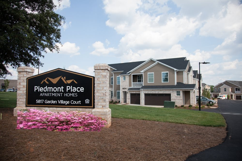 Piedmont Place Apartment Homes Signage in Greensboro North Carolina