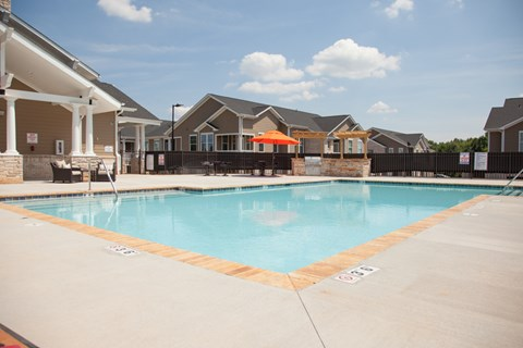 Resort Style Swimming Pool at Piedmont Place Apartments in Greensboro, NC