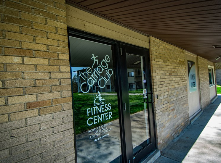 Carriage Park Apartments Fitness Center Entry