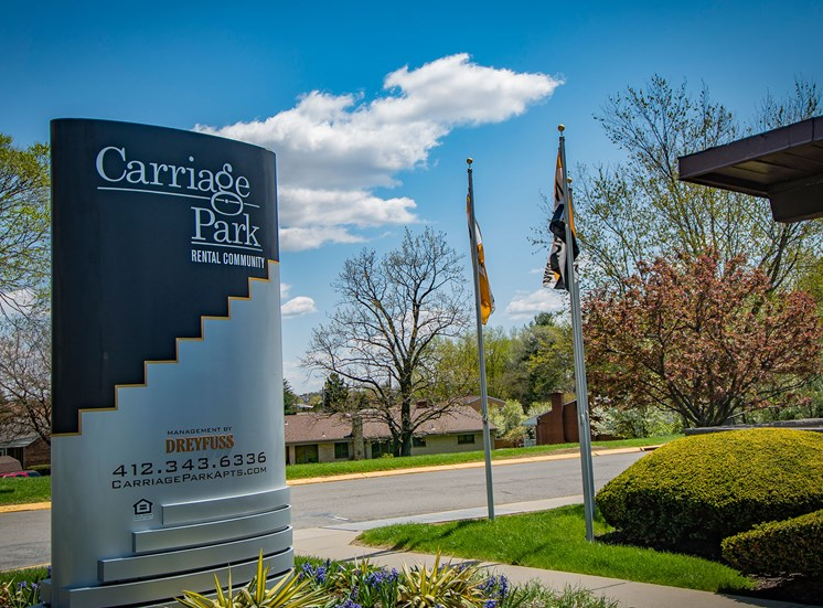 Carriage Park Apartments Signage