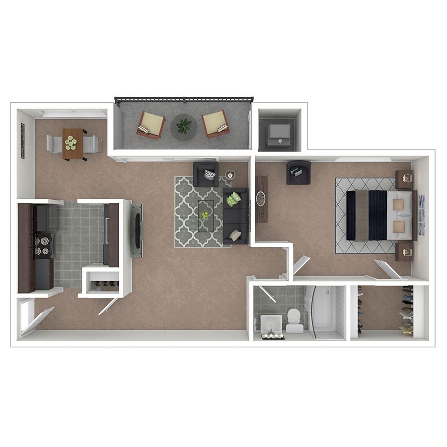 Carriage Park Apartments One Bedroom B