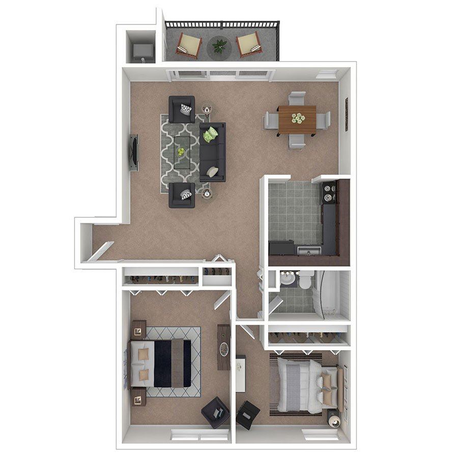 Carriage Park Apartments Two Bedroom