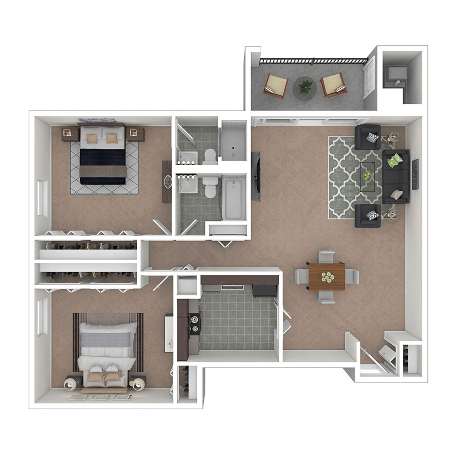 Carriage Park Apartments Two Bedroom Two Bath