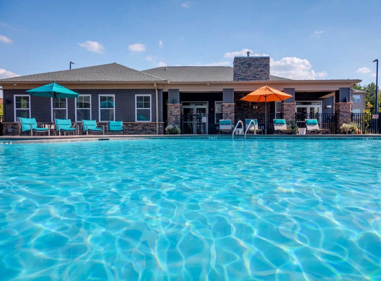 Blue Cool Swimming Pool at Evolve at Tega Cay, Fort Mill