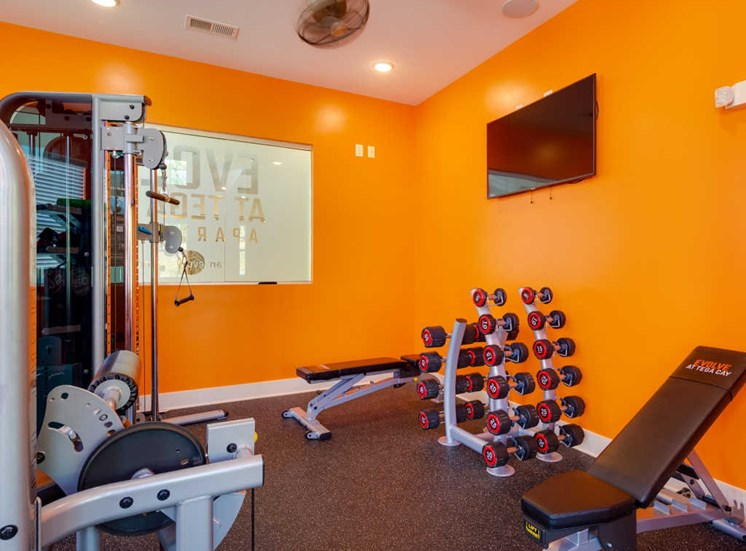 Fitness Center With Modern Equipment at Evolve at Tega Cay, South Carolina, 29708