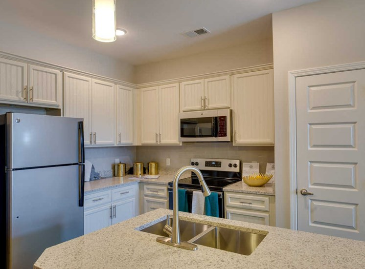 Fully Equipped Kitchen Includes Frost-Free Refrigerator, Electric Range, & Dishwasher at Evolve at Tega Cay, Fort Mill, SC, 29708