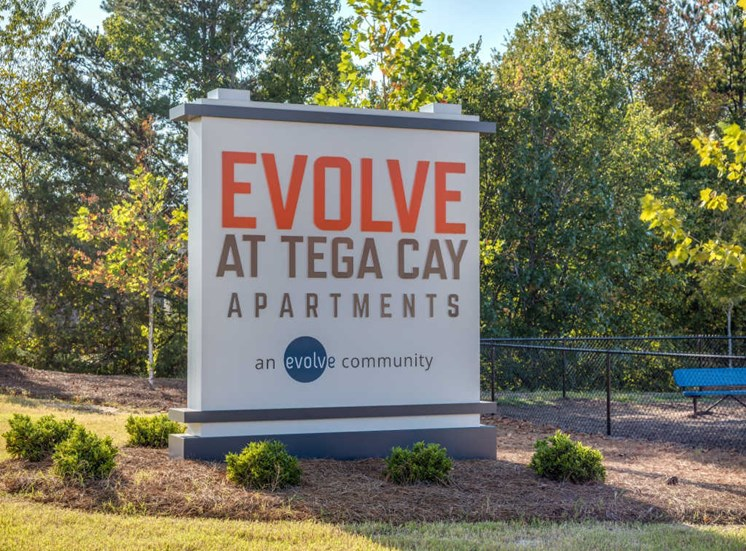 Property Sign at Evolve at Tega Cay, Fort Mill, SC
