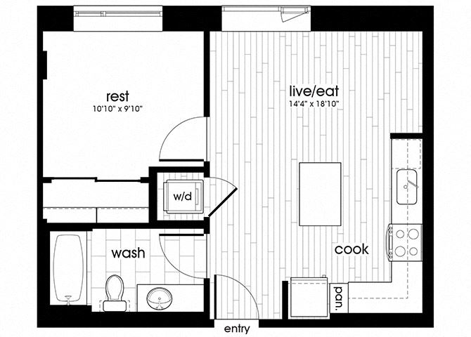 A05 Floorplan for Sandy28 Apartments in Portland, OR