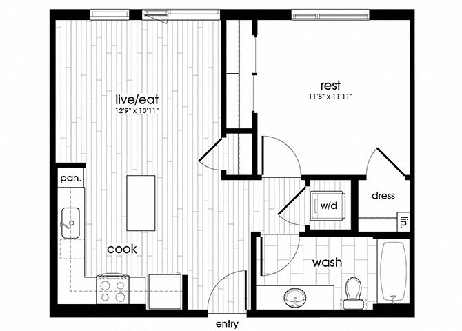 A10 Floorplan for Sandy28 Apartments in Portland, OR