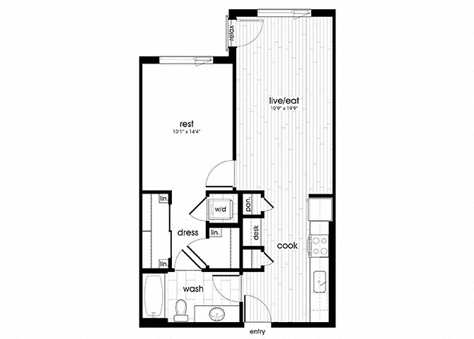 A11 Floorplan for Sandy28 Apartments in Portland, OR