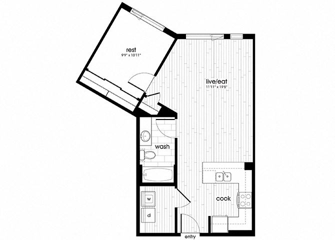 A13 Floorplan for Sandy28 Apartments in Portland, OR