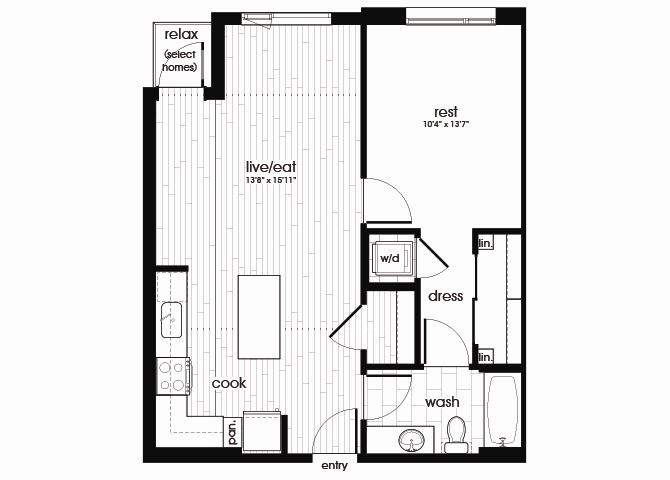 A14 Floorplan for Sandy28 in Portland, OR