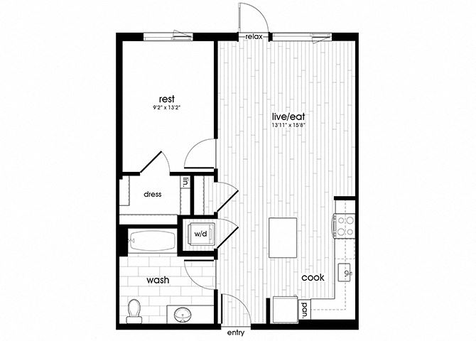 A15 Floorplan for Sandy28 Apartments in Portland, OR