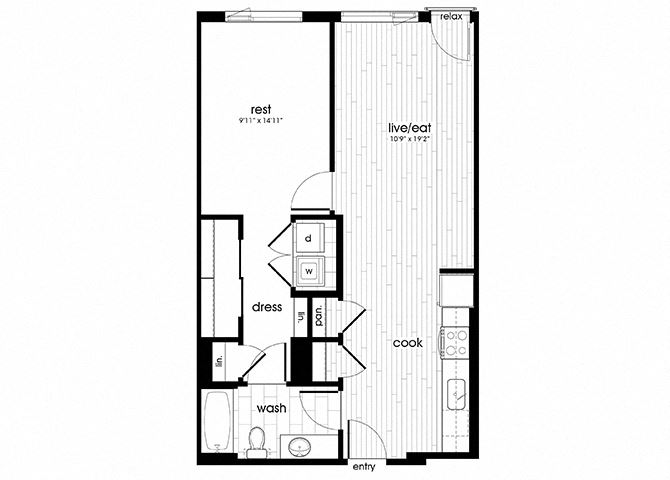 A16 Floorplan for Sandy28 Apartments in Portland, OR