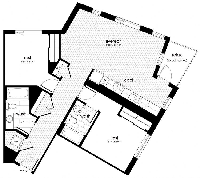 B2 Floorplan for Sandy28 in Portland, OR
