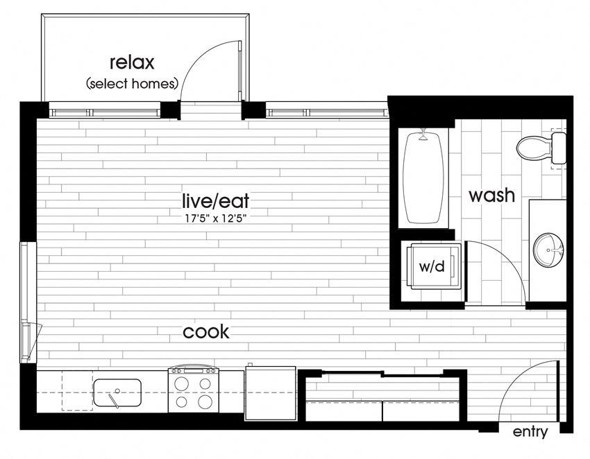 S2 Floorplan for Sandy28 in Portland, OR