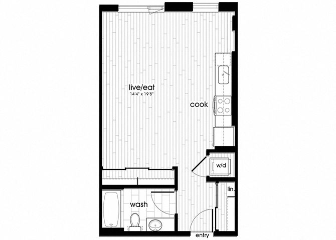 S5 Floorplan for Sandy28 Apartments in Portland, OR