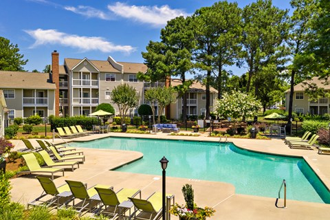 Resort Style Sparkling Swimming Pool at Avenues at Steele Creek Apartments