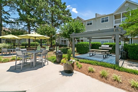 Residential Grilling and Picnic Pavilion at Avenues at Steele Creek Apartments