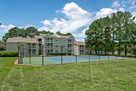 Residential Tennis Courts at Avenues at Steele Creek Apartments