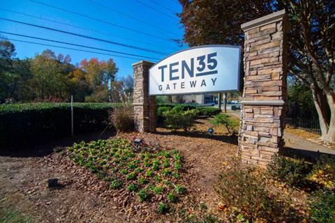 Ten35 Entrance with landscape