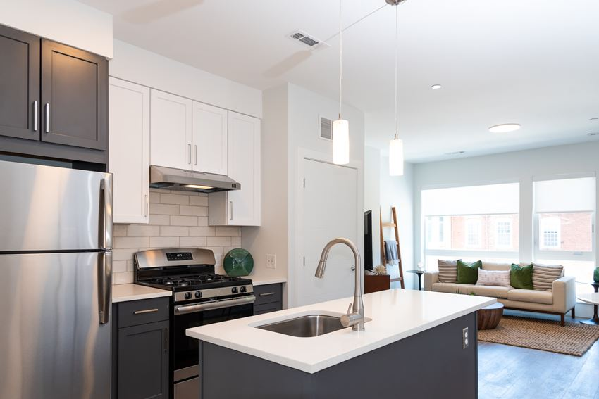Union and west model with gas stoves, granite counters, stainless appliances and high quality finishes