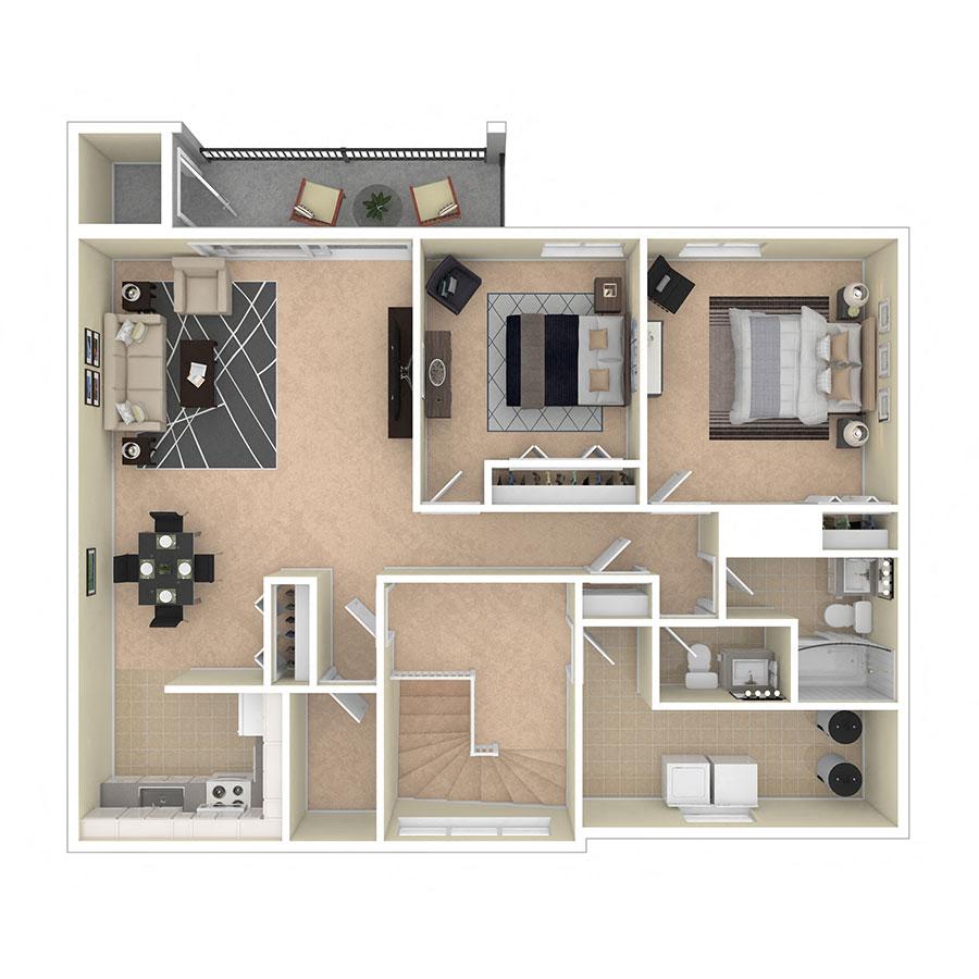 Maplewood Villas Apartments Two Bedroom