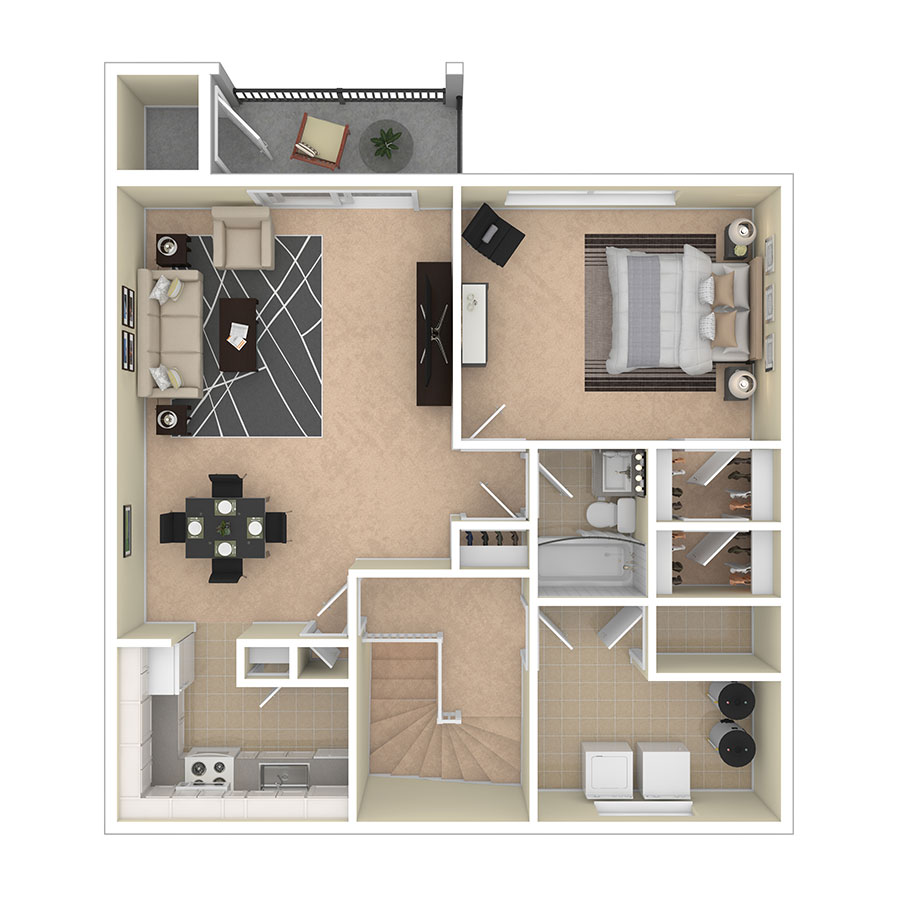 Maplewood Villas Apartments One Bedroom