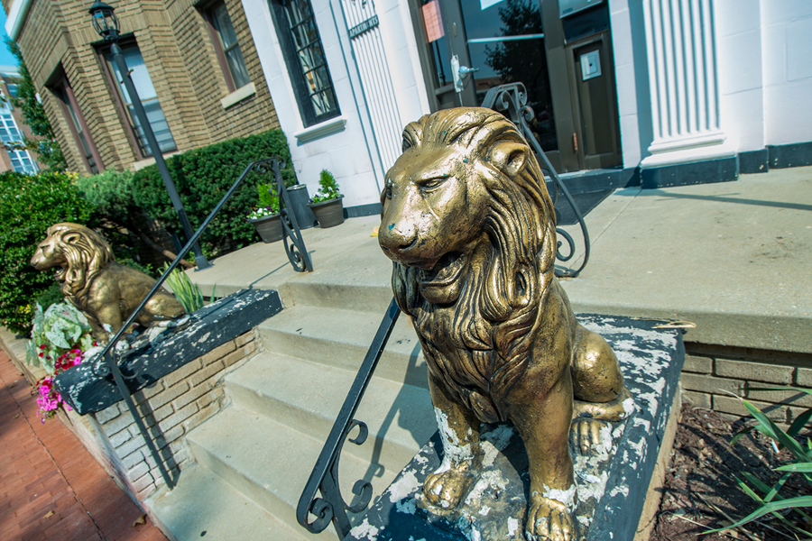 Abby-The Abby Apartments Entrance Lion Photo