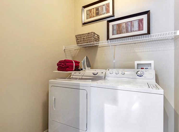 ironwood model unit laundry