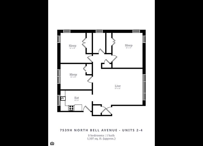 3 Bedroom | 1 Bath (D2)