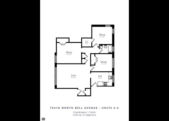 3 Bedroom | 1 Bath (D1)