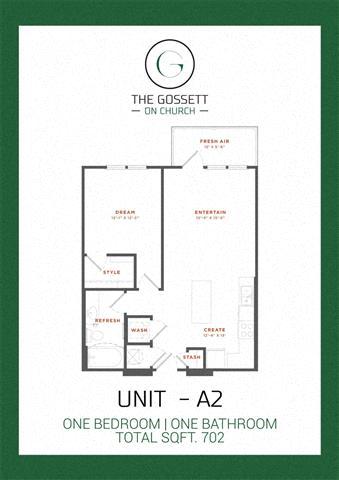 Floor Plans Of The Gossett On Church In Nashville Tn