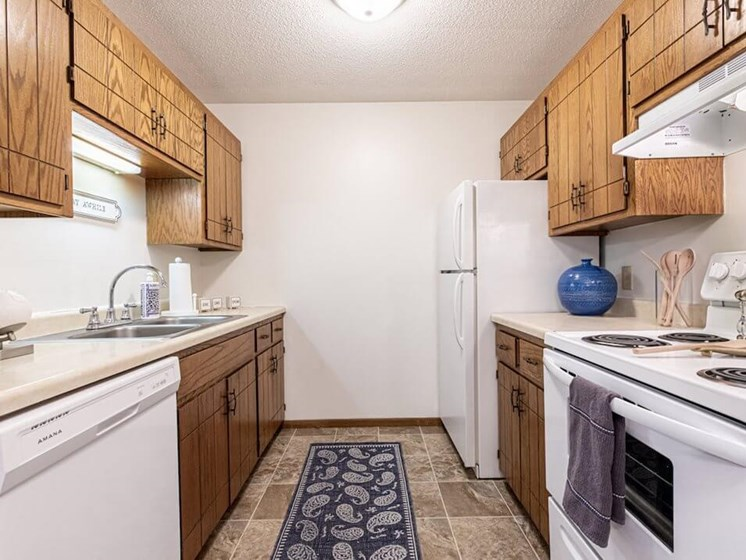 fully equipped kitchens at Uppertown Apartments