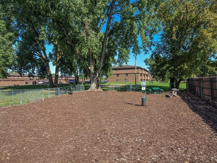 private dog park at Uppertown Apartments