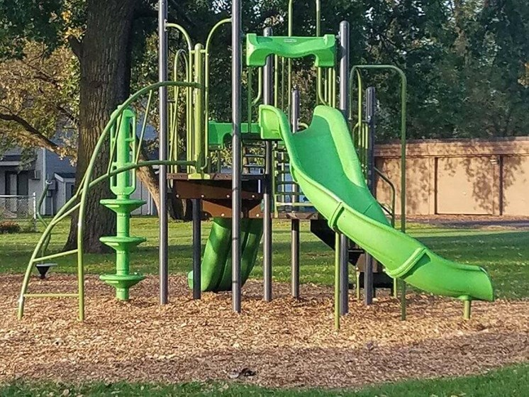 community playground for Uppertown apartment residents