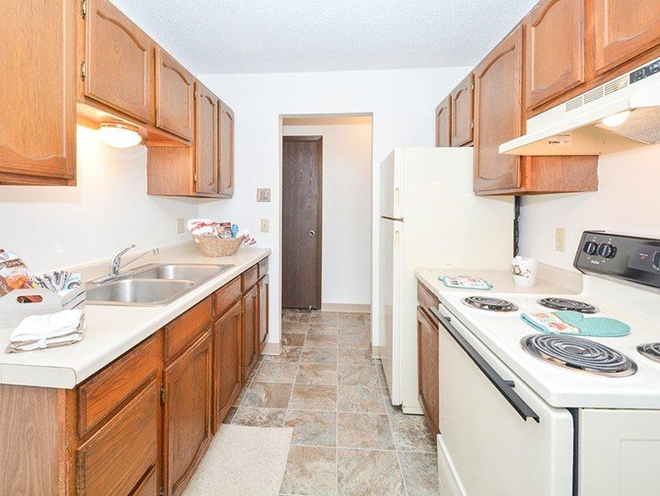Kitchen in Uppertown Apartments in Saint Cloud, MN